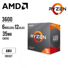 Procesador AMD Ryzen 5 3600, 3.60GHz, 32MB L3, 6 Core, AM4, 7nm, 65W