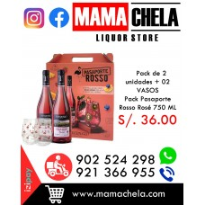 Pack PASAPORTE ROSSO ROSÉ 750ML