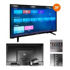 "Televisor Smart Advance ADV39N77D, 39"" LED HD, 1366 x 768, Wireless, LAN."