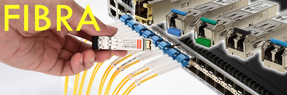 FIBRA OPTICA, TRANSCEIVERS Y CABLES